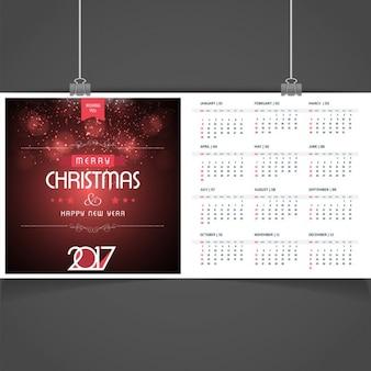 Elegant christmas 2017 calendar