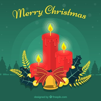 Elegant christmas background with candles