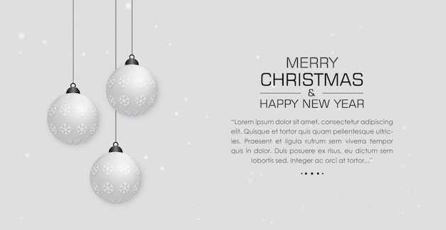 Elegant christmas background with decorated balls