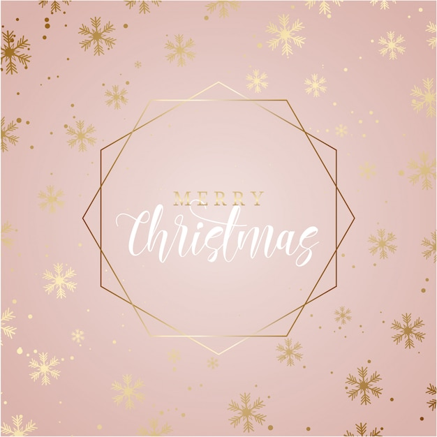 Elegant christmas background with gold snowflakes