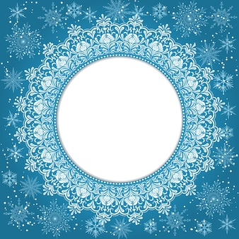 Elegant christmas background with snowflakes and place for text. abstract winter background. vector illustration.