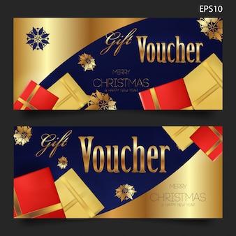 Elegant christmas gift voucher template