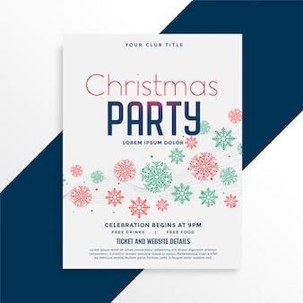 Elegant christmas party flyer design
