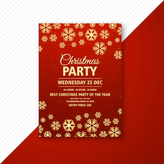 Elegant christmas party flyer temeplate