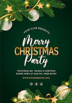 우아한 크리스마스 파티 포스터 템플릿