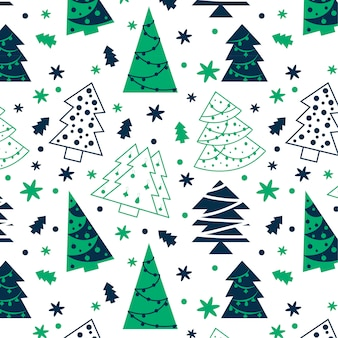 Elegant christmas pattern with christmas motifs