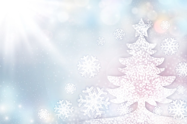 Elegant christmas tree background with copy space