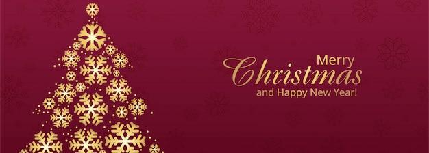 Elegant christmas tree banner template