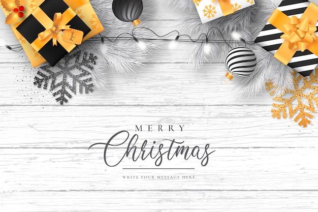 Elegant christmas with modern decoration