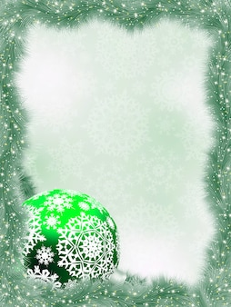 Elegant christmas with snowflakes branches.