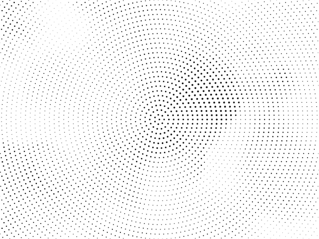 Elegant circular halftone design