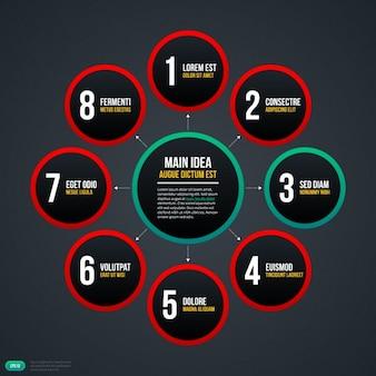Elegant circular infographic template