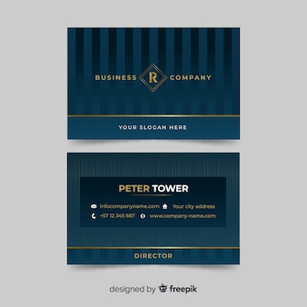 Classic Business Card Design Template Vector Free Download