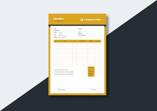 Elegant classic deco style invoice template