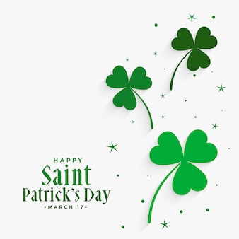 Elegant clover leaves st patricks day background