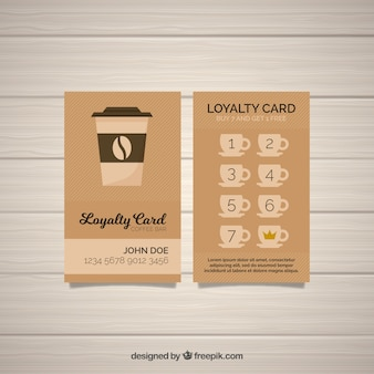Elegant coffee shop loyalty card template