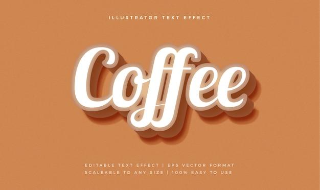 Элегантный кофейный текстовый эффект шрифта