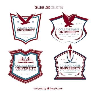 Elegant college logos Premium Vector