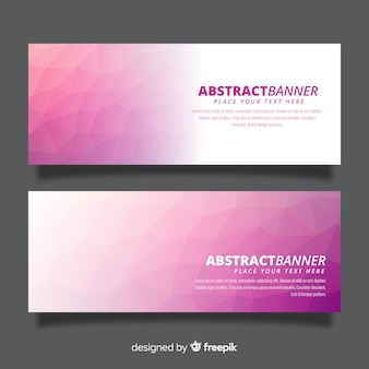 Elegant colorful banners with gradient style