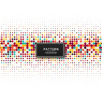Elegant colorful dots pattern background