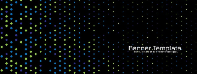 Elegant colorful halftone banner background