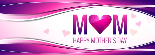 Elegant colorful heart mother's day background