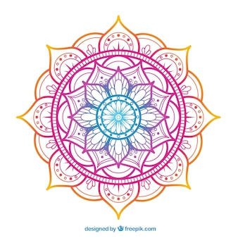 Elegant colorful mandala background