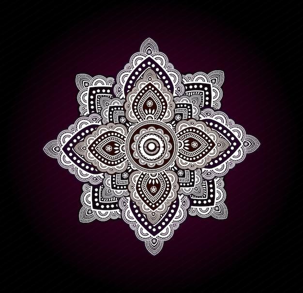 Elegant colorful mandala
