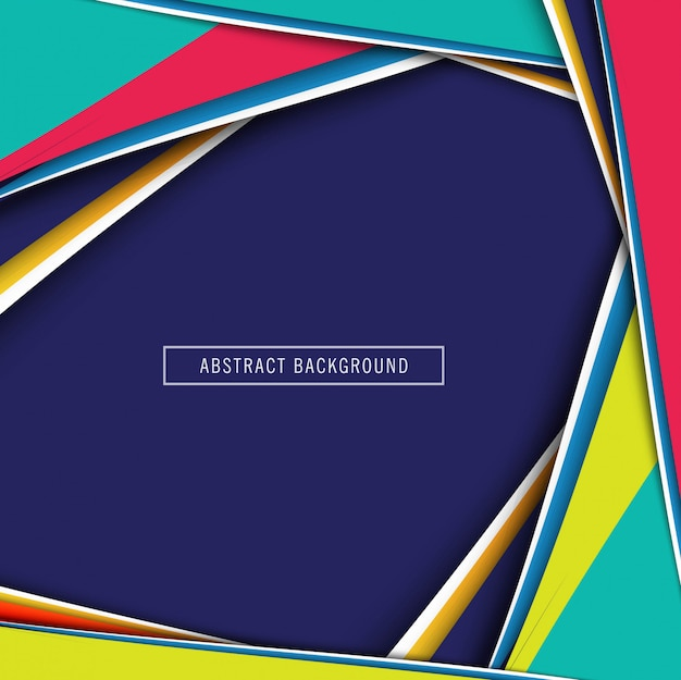 Elegant colorful paper cut background vector