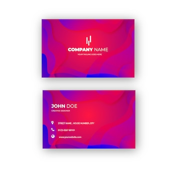 Elegant and colorful professional business card design with abstract background