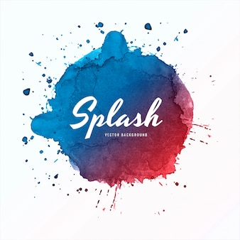 Elegant colorful splash watercolor background