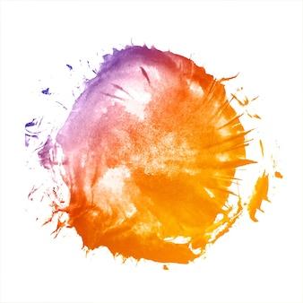 Elegante acquerello colorato splash