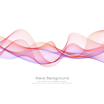 Elegant colorful wave background