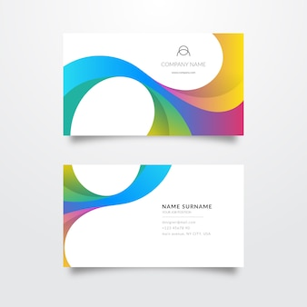 Elegant colourful business card template