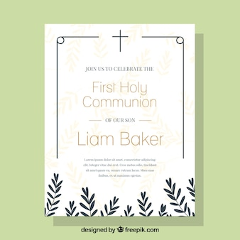Elegant communion invitation