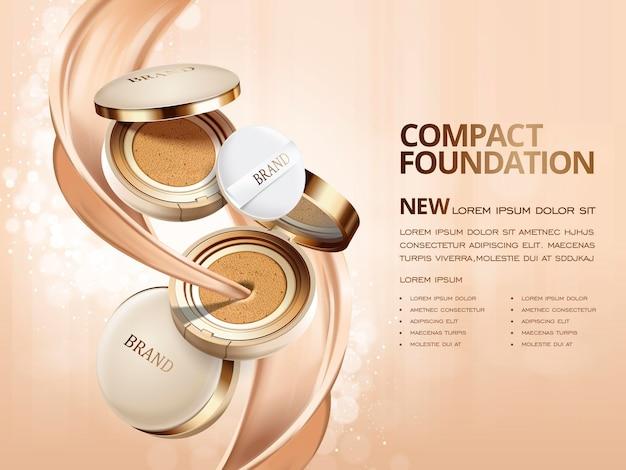 Elegant compact foundation ads