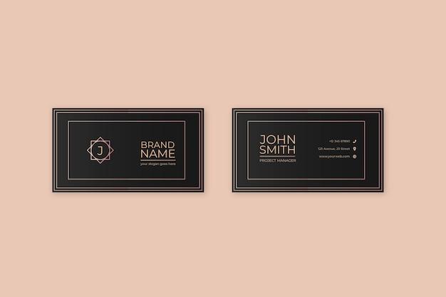 Elegant company business card template