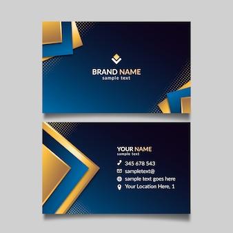 Элегантная концепция для шаблона визитной карточки