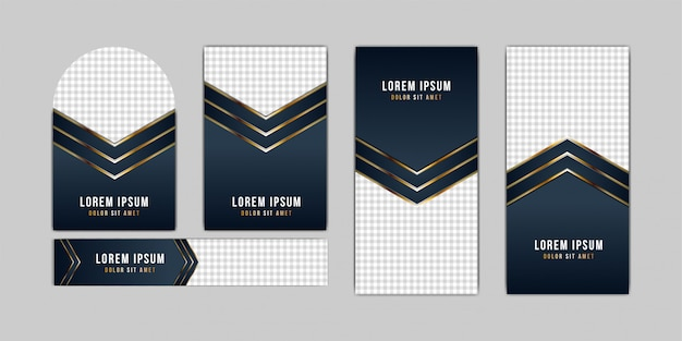 Elegant concept of golden and luxury style for banner collection