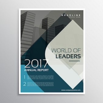 Elegant corporate brochure of abstract shapes