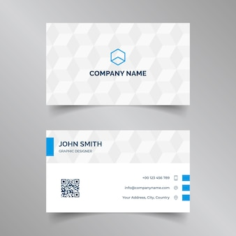 Elegant corporate business card in blue and white colors