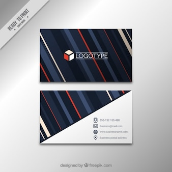 Elegant corporative card with stripes
