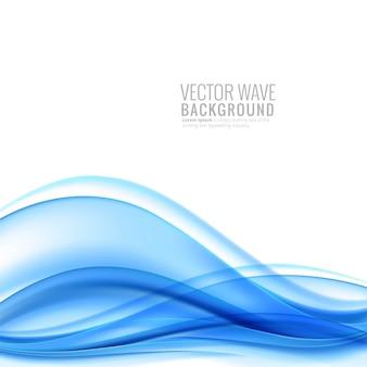 Elegant creative blue wave