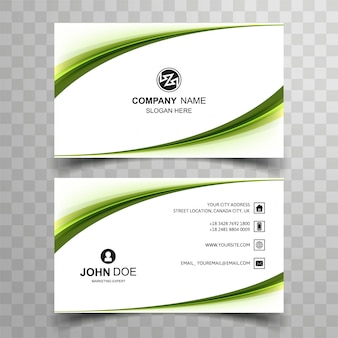 Elegant creative business card set template design