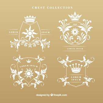 Elegant crests in vintage style