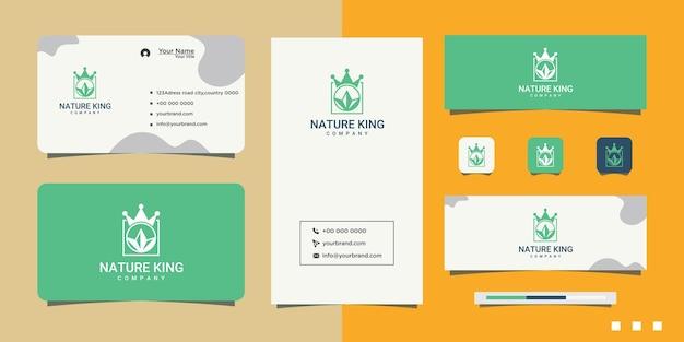 エレガントな王冠のグラフィックデザインのロゴ