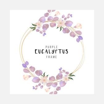Elegant cute floral fram of eucalyptus