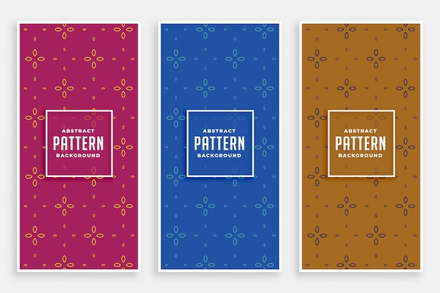 Elegant cute flower pattern banners