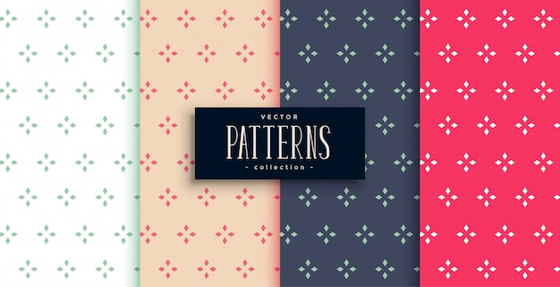 Elegant cute small flowers pattern set