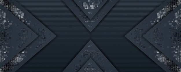 Elegant dark background template overlap layer with silver glitters